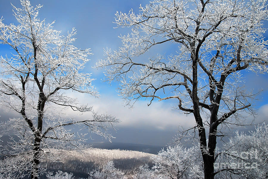 Snow Photograph - Distant Storms by Lois Bryan
