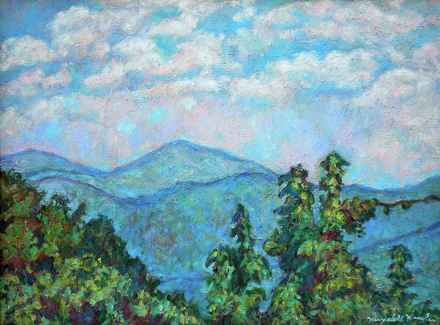 Landscape Paintings Painting - Distant View Of Peaks Of Otter by Kendall Kessler