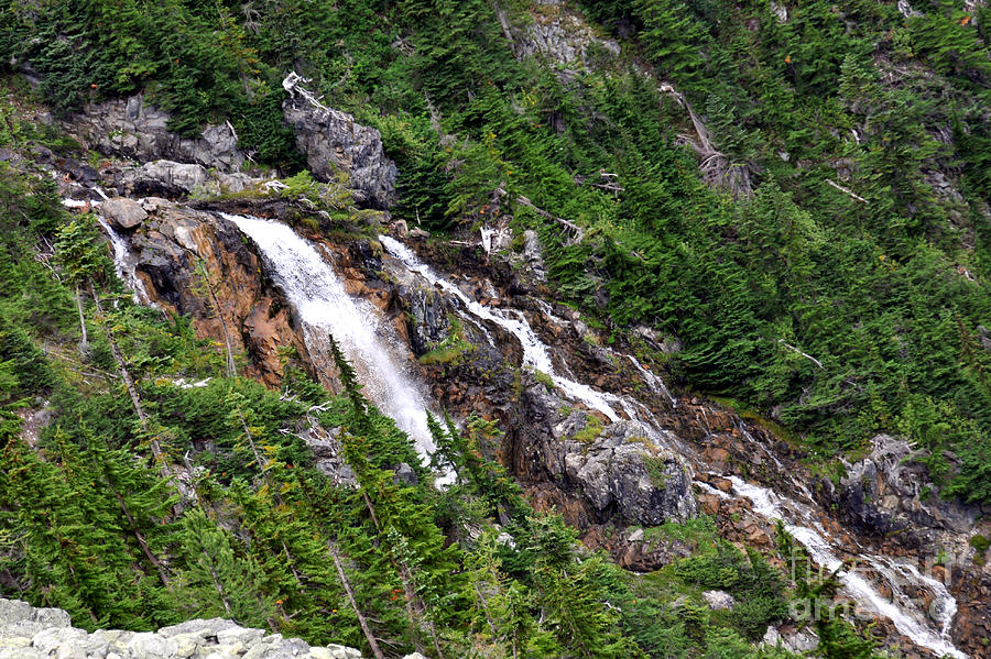 Distant Waterfall Photograph