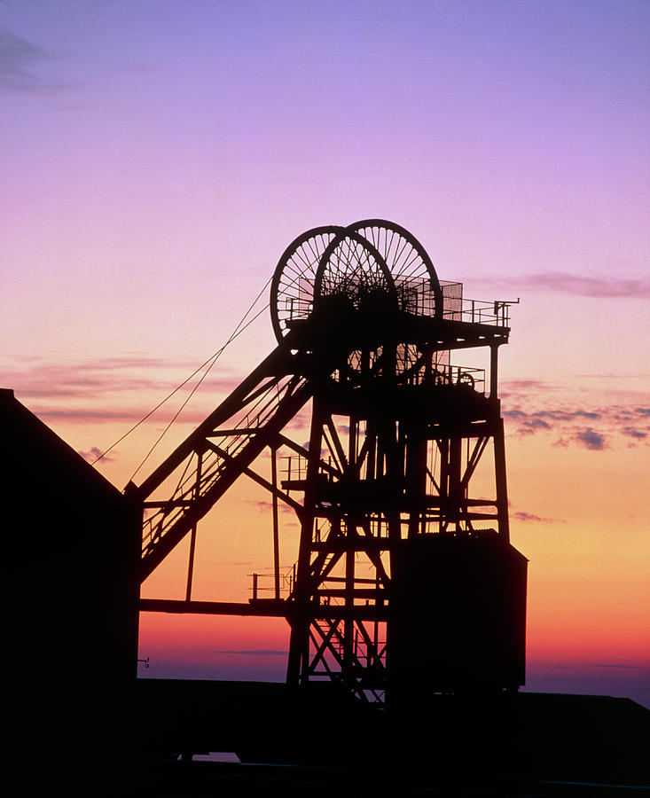 Mine Photograph - Disused Pit Head In Whitehaven by Martin Bond/science Photo Library