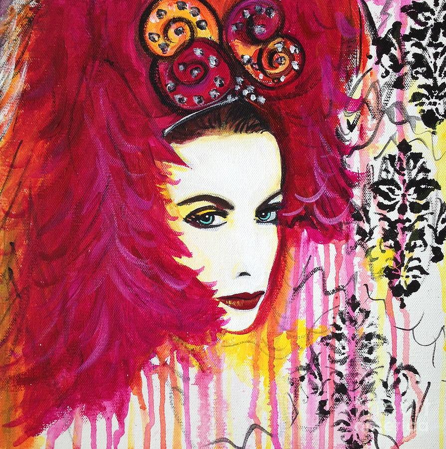 Diva annie lennox painting by julie janney - Annie lennox diva ...