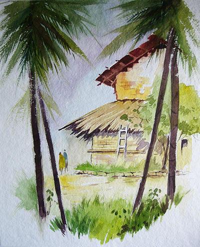 Landscape Painting - Diveagar by Deepali Sagade