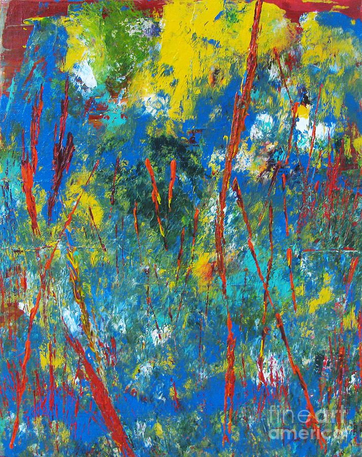 Abstract Painting - New World Too by JoAnn DePolo