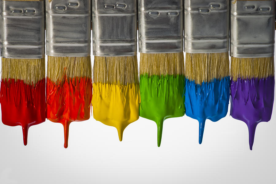 Diversity Paint Brushes Horizontal Photograph by Don McGillis