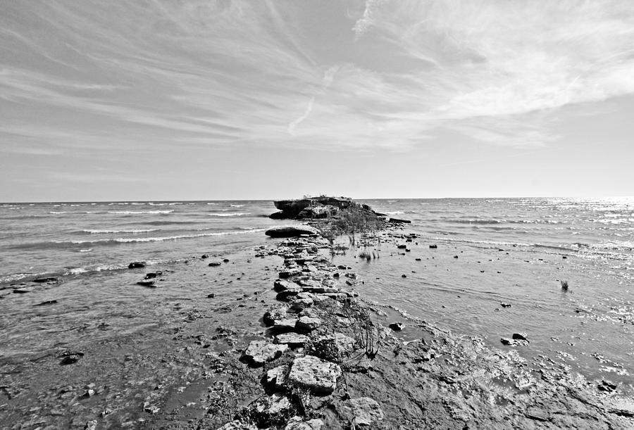 Door County Photograph - Divided Waters by Ty Helbach