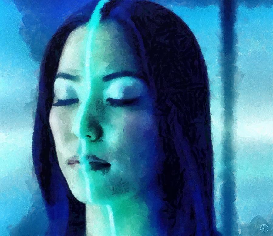 Woman Digital Art - Dividing Light by Gun Legler