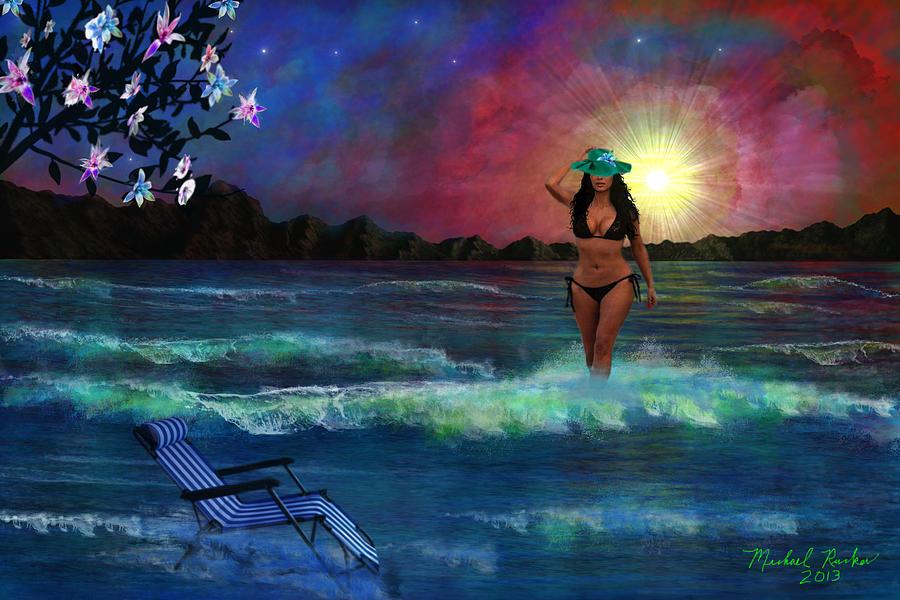 Tropical Beach Digital Art - Divine Beauty by Michael Rucker