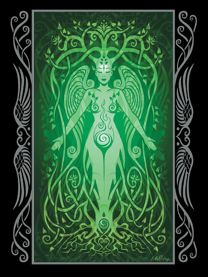 Goddess Digital Art - Divine Life V.2 by Cristina McAllister