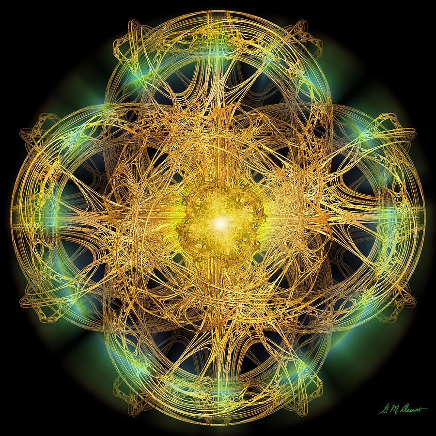 Fractal Digital Art - Divine Meditation by Michael Durst