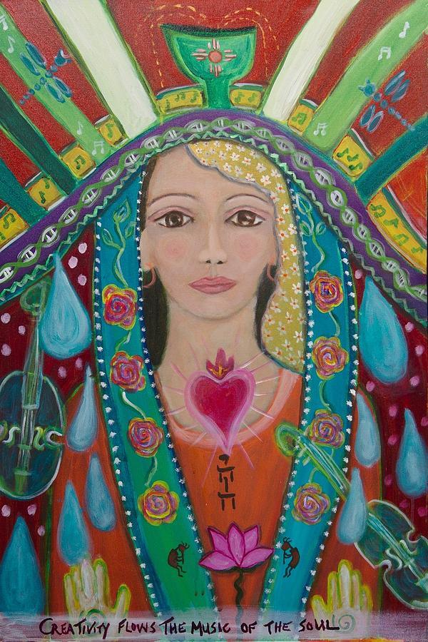 Divine Painting - Divine Spark Of Creativity by Havi Mandell