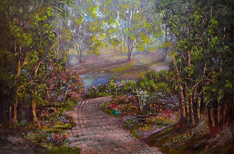 Colorful Painting - Divine Sunshine by Michael Mrozik