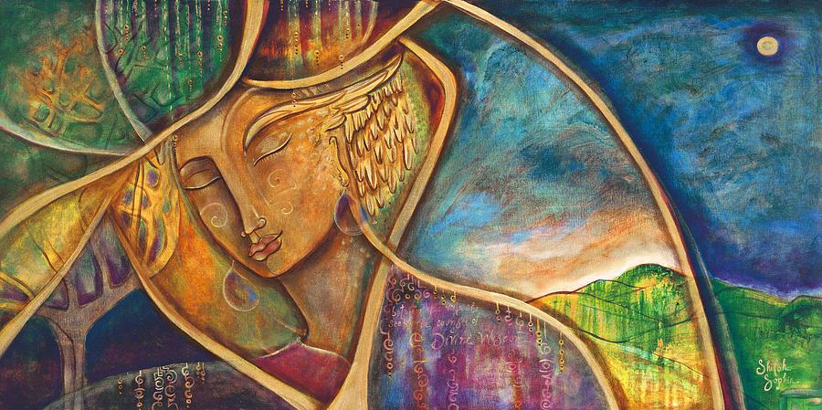 Divine Wisdom Painting - Divine Wisdom by Shiloh Sophia McCloud