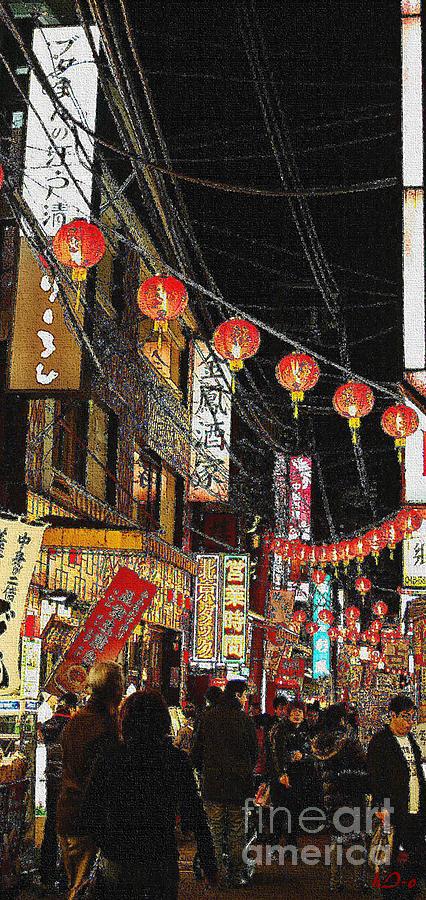 City Digital Art - Diving In Lights by Ha Imako