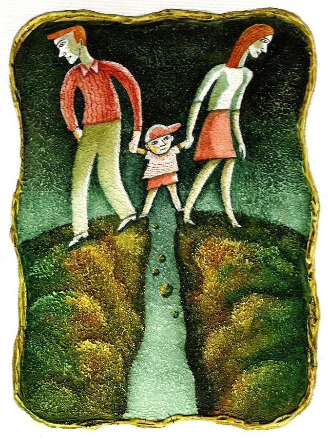 Divorce Painting By Leon Zernitsky