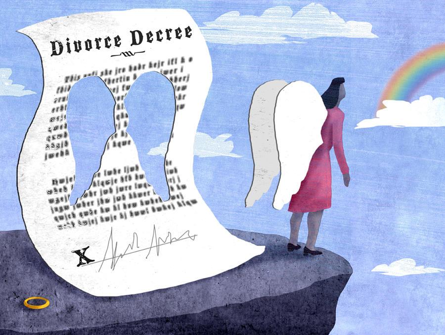 Illustration Digital Art - Divorce by Steve Dininno