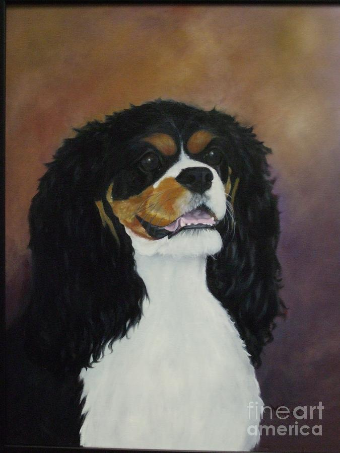 Dog Painting - Dixie Belle by M J Venrick
