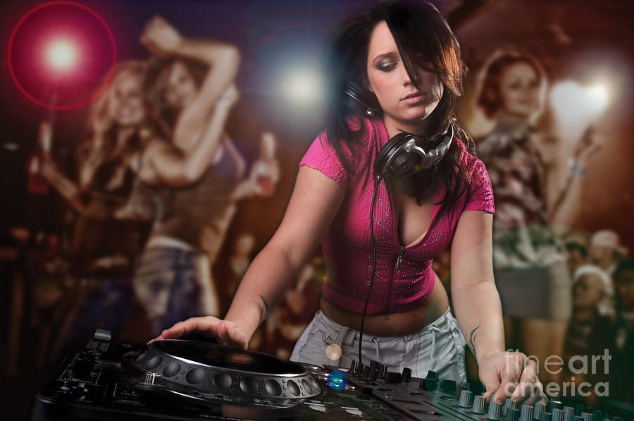 Dj Photograph - Dj Girl by Jt PhotoDesign