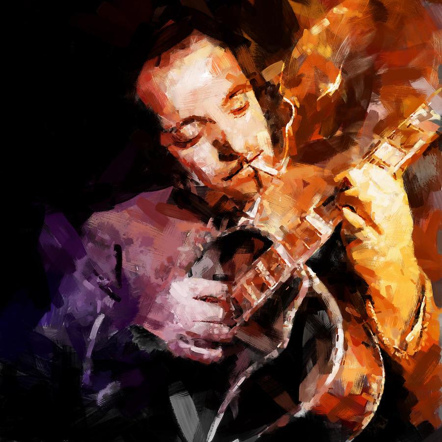 Django Mixed Media - Django Reinhardt by Andy Whorewal