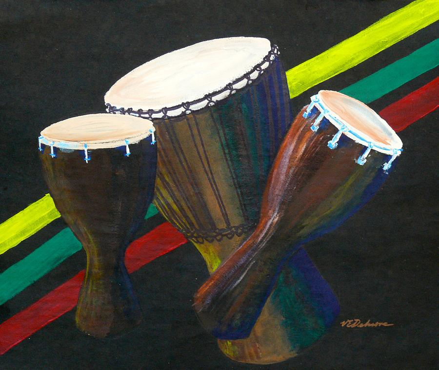 Djembe Drums by Vic Delnore