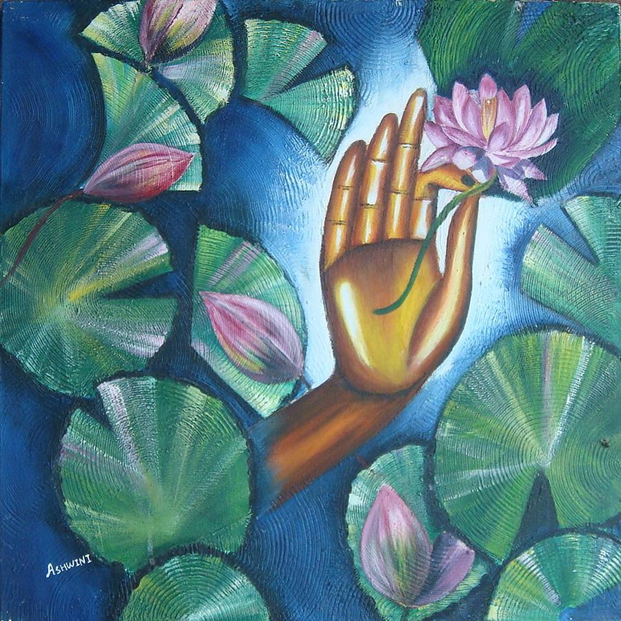 Dnyan Mudra Painting By Ashwini Tatkar