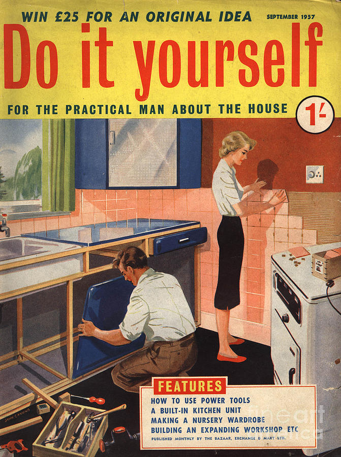 Do it yourself 1950s uk diy kitchens drawing by the advertising archives 1950s drawing do it yourself 1950s uk diy kitchens by the advertising archives solutioingenieria Image collections