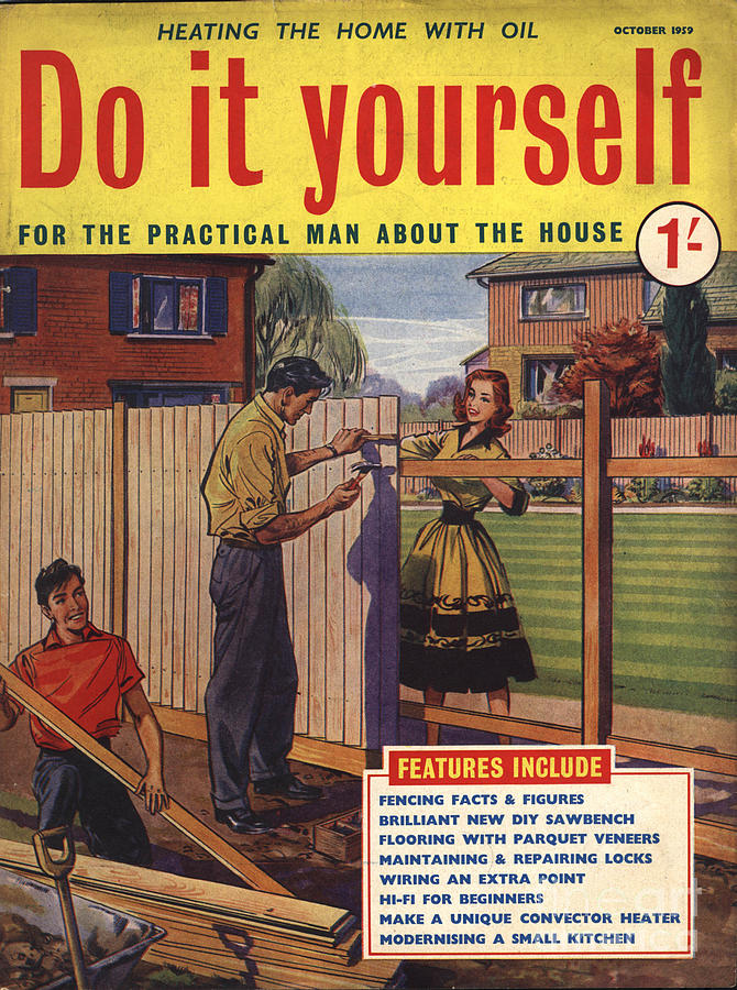 Do it yourself 1950s uk fences diy drawing by the advertising archives 1950s drawing do it yourself 1950s uk fences diy by the advertising archives solutioingenieria Image collections