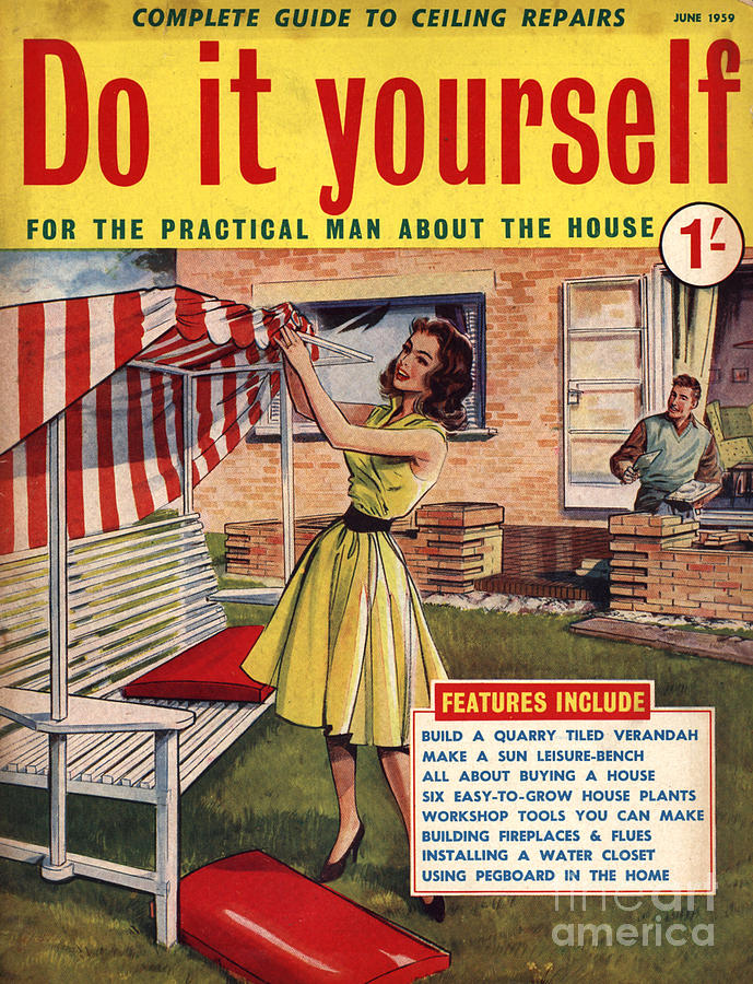 British Drawing - Do It Yourself 1959 1950s Uk Magazines by The Advertising Archives