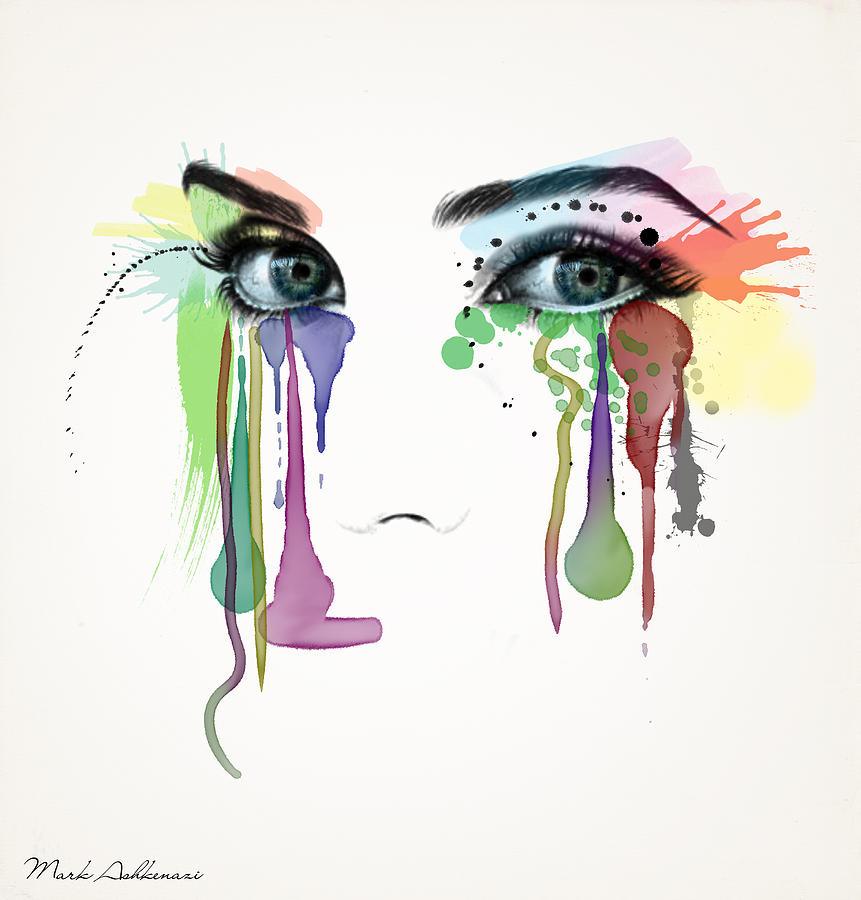 Portrait Painting - Do You Really Want To Hurt Me by Mark Ashkenazi