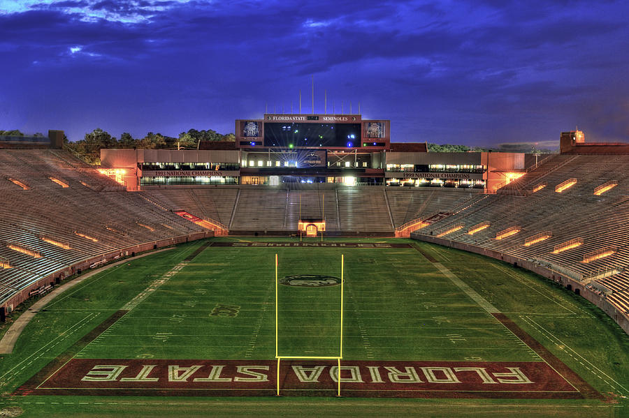 Landscape Photograph - Doak Campbell Stadium by Alex Owen