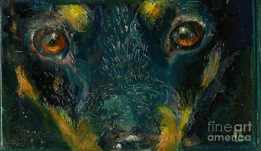 Hawaii Painting - Doberman by Donna Chaasadah