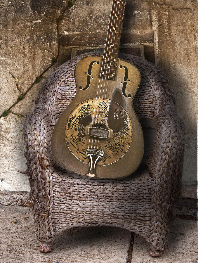 Dobro Guitar Photograph - Dobro Guitar by Larry Butterworth