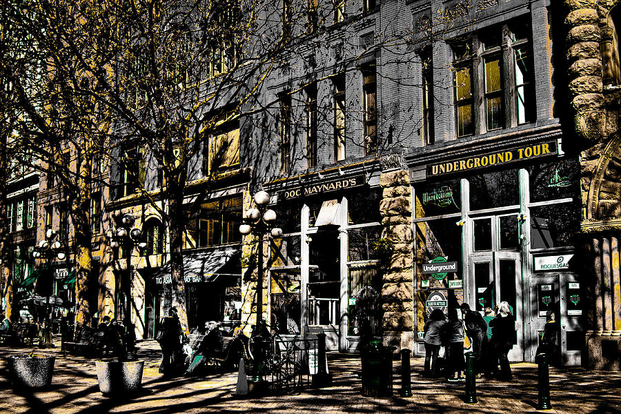 Pioneer Square Seattle Photograph - Doc Maynards And The Underground Tour - Seattle Washington by David Patterson