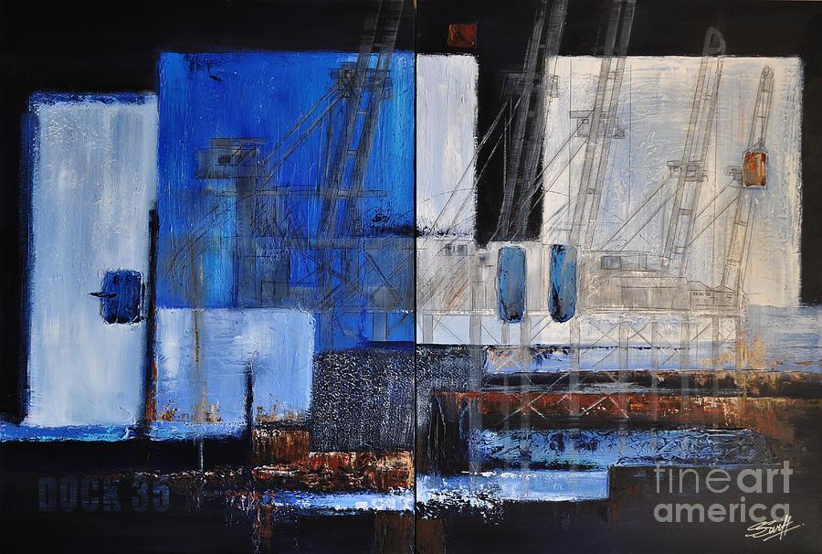 Docks Painting - Dock 35 by Sallie-Anne Swift