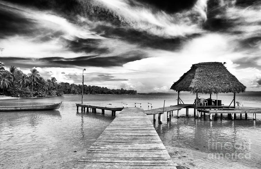 Bocas Del Drago Photograph - Dock At Drago by John Rizzuto