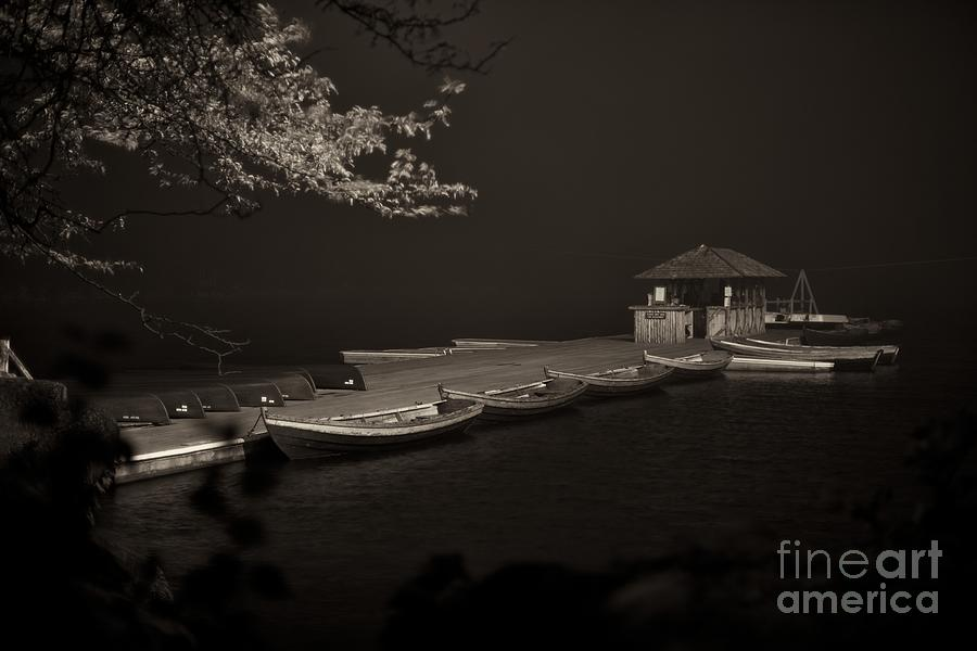 Dock at night by Miguel Celis