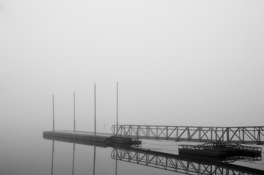 Dock in the fog by Jim Norwood