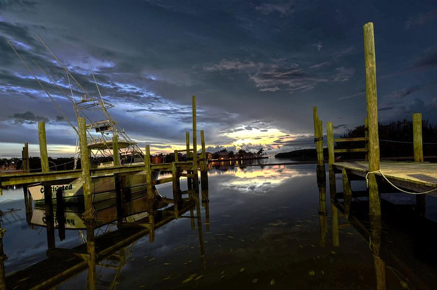 Dusk Digital Art - Dock Of The Bay by Bob Jackson