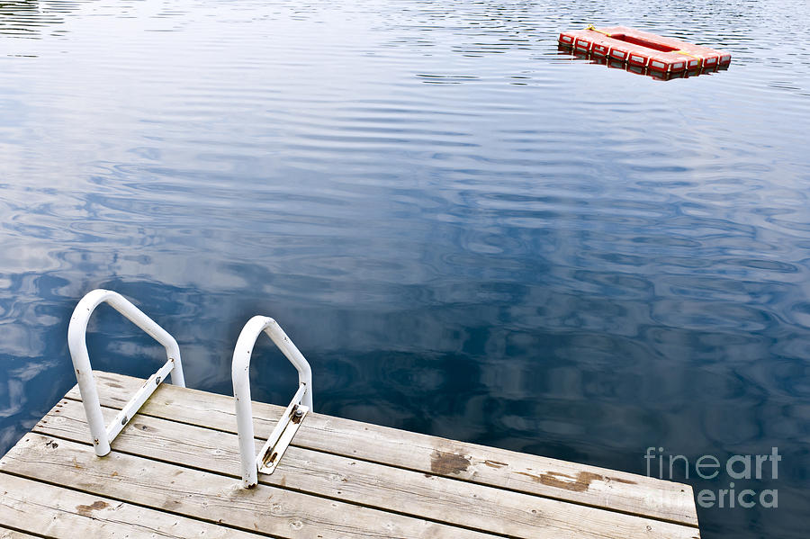 Dock Photograph - Dock On Calm Summer Lake by Elena Elisseeva