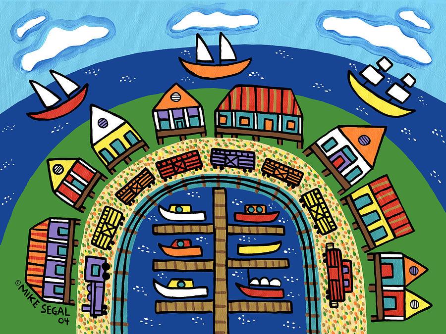 Cedar Key Painting - Dock Street-cedar Key by Mike Segal