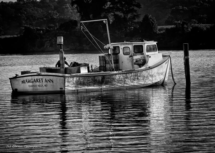 Boats Photograph - Docked For The Night by Glenn Thompson