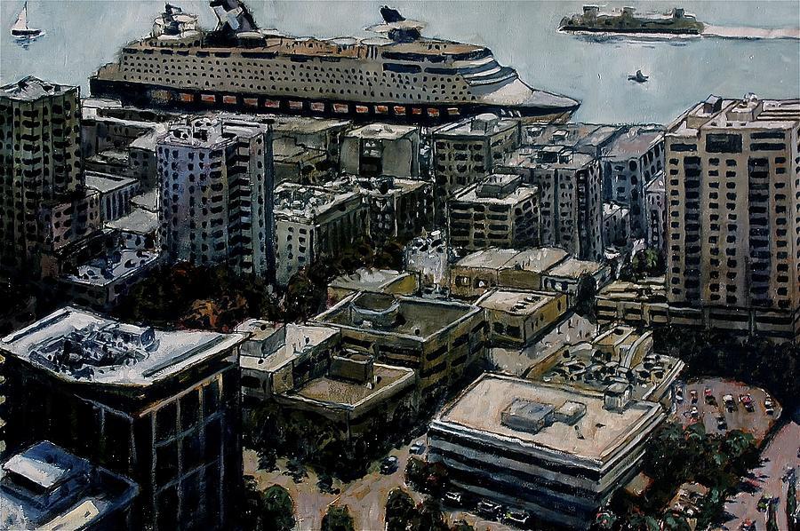 Docked In Seattle Painting by Joe Jaqua
