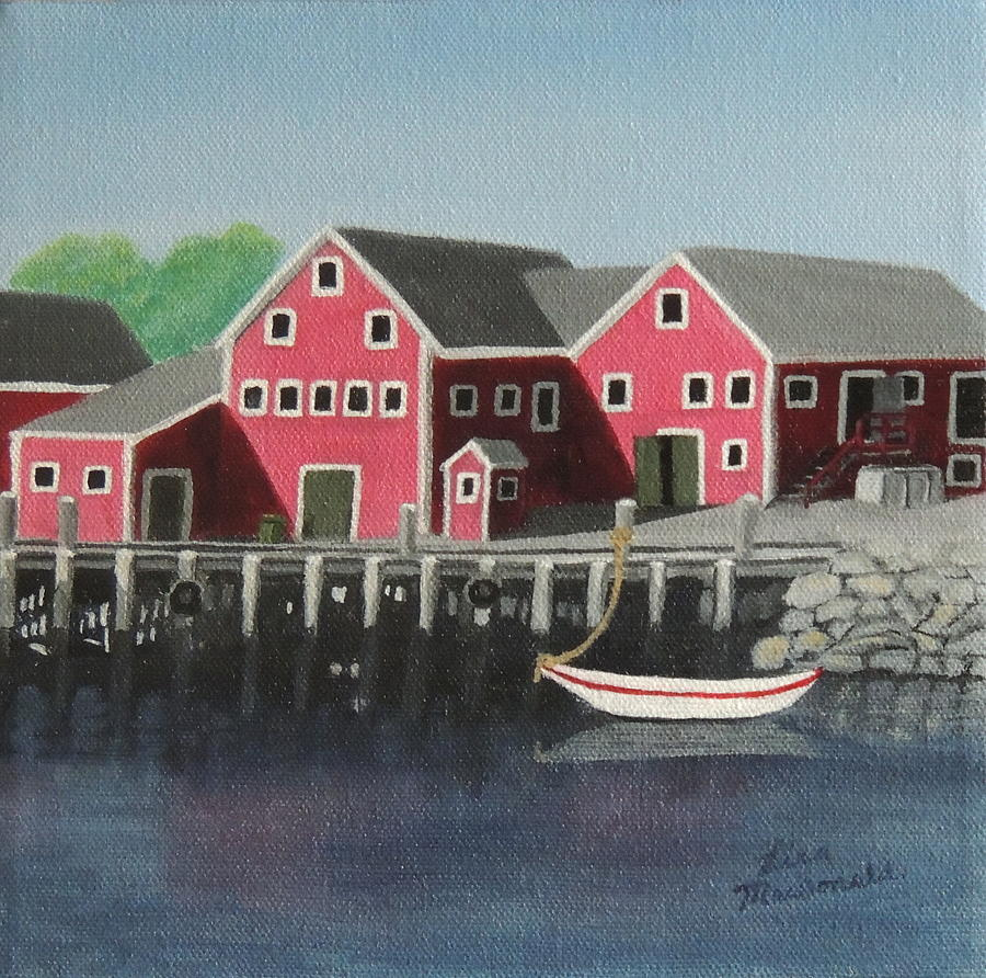 Acrylic Painting - Docked - Original SOLD by Lisa MacDonald