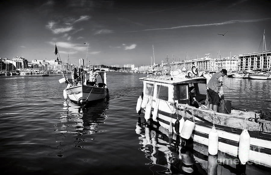Boat Photograph - Docking At The Market by John Rizzuto