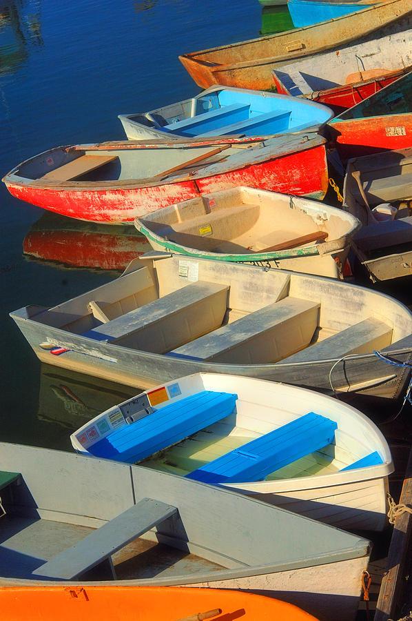 Boats Photograph - Dockside Parking by Joann Vitali