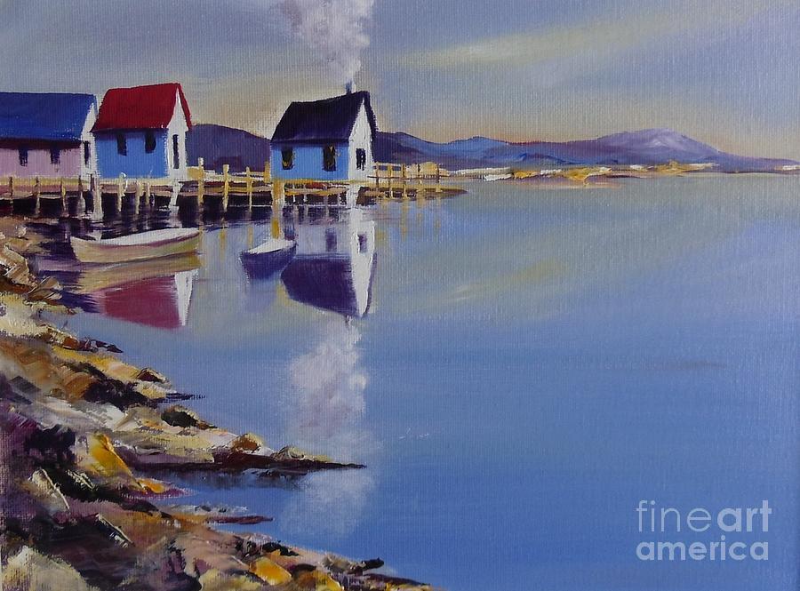 Waterscape Painting - Dockyard by Kaleem Ahmed