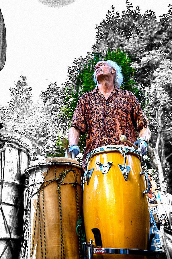 Drum Circle Photograph - Doctor Drum by John Haldane