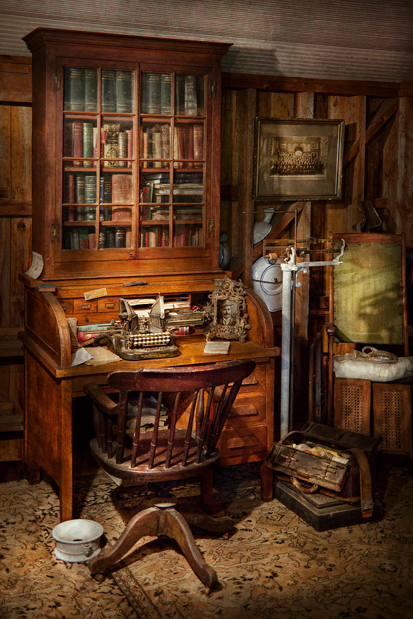 Doctor Photograph - Doctor - My Tiny Little Office by Mike Savad