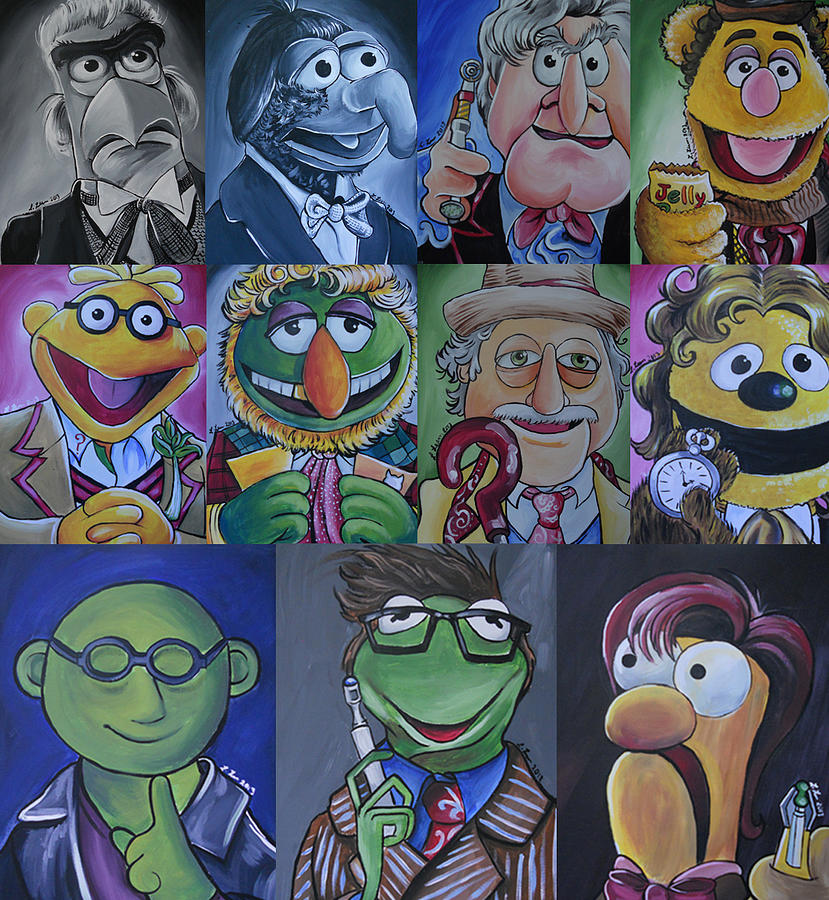 Doctor Who Painting - Doctor Who Muppet Mash-up by Lisa Leeman
