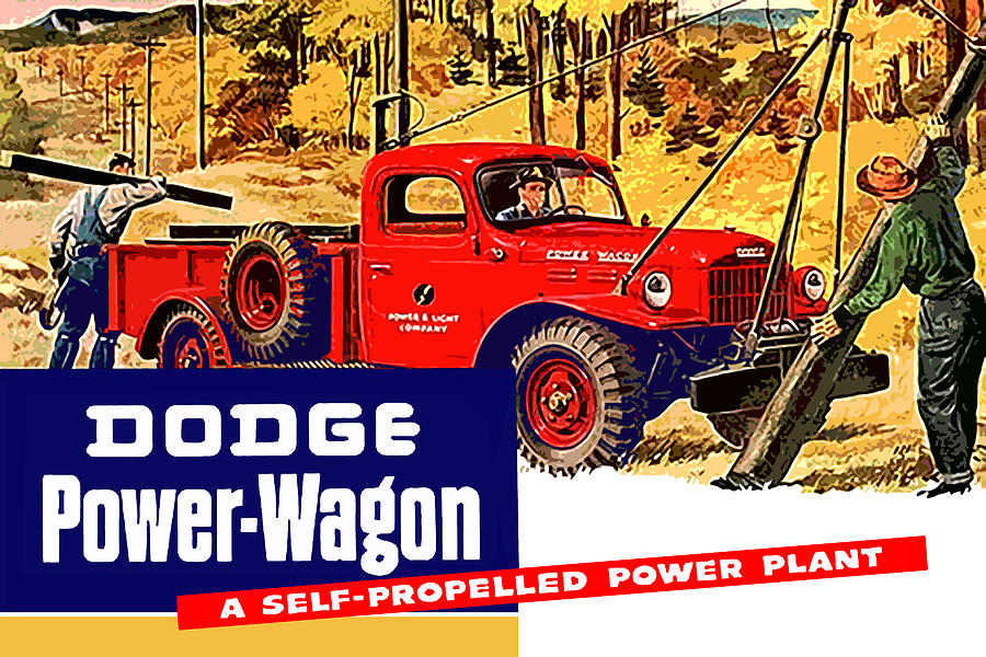 Dodge power wagon self propelled power plant digital art by god dodge digital art dodge power wagon self propelled power plant by god and sciox Image collections
