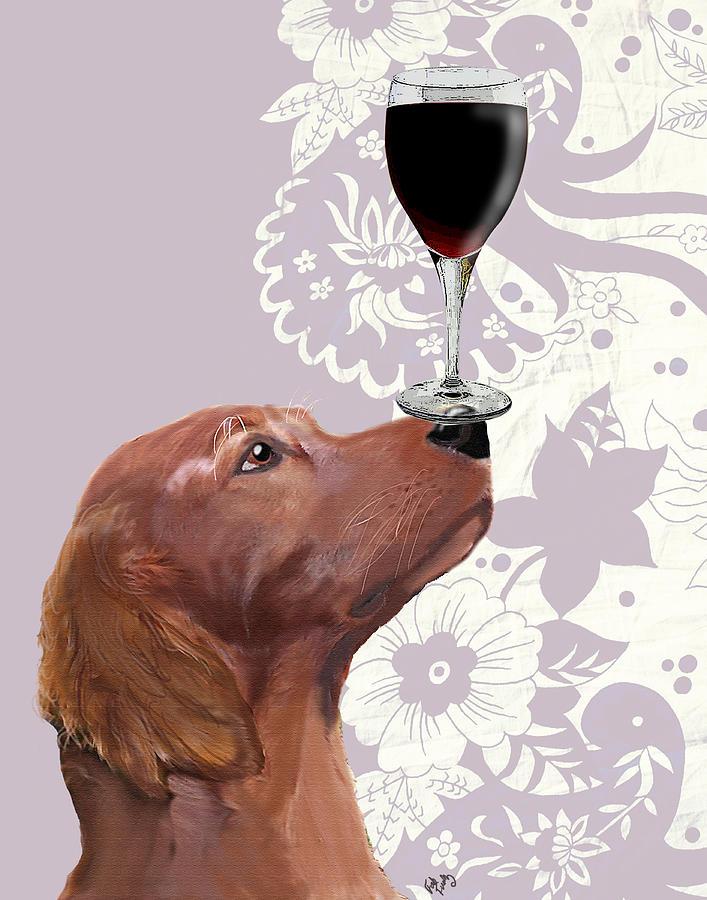 Dog Framed Prints Digital Art - Dog Au Vin by Kelly McLaughlan